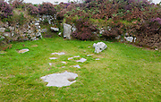 Chysauster Ancient Village is a late Iron Age and Romano-British village of courtyard houses in Cornwall, England