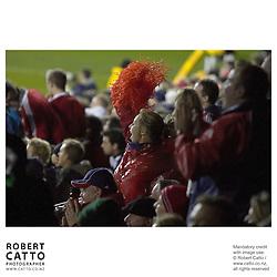Lions Fans at the British & Irish Lions v. Auckland Blues Match at Eden Park, Auckland, New Zealand.<br />