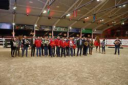 Prizegiving Elitehengsten<br /> I Am Moerhoevens's Star, Eric en Frederic Dekens<br /> Jackson de Regor, Fam Veldman, Fam Van Dijck-Rostal<br /> MJT Nevados, HH MJT Horses-Van De Heffinck<br /> Untouchable, Stal Van Hoof, HH Keros<br /> C-Wildfire, Heather Howard, Bates Liz<br /> Button Sitte<br /> Hengstenkeuring BWP - Lier 2018<br /> © Hippo Foto - Dirk Caremans<br /> 20/01/2018