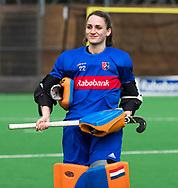 BILTHOVEN - hoofdklasse competitie dames, SCHC-Amsterdam (1-3). keeper Roos Knijff (SCHC). COPYRIGHT KOEN SUYK