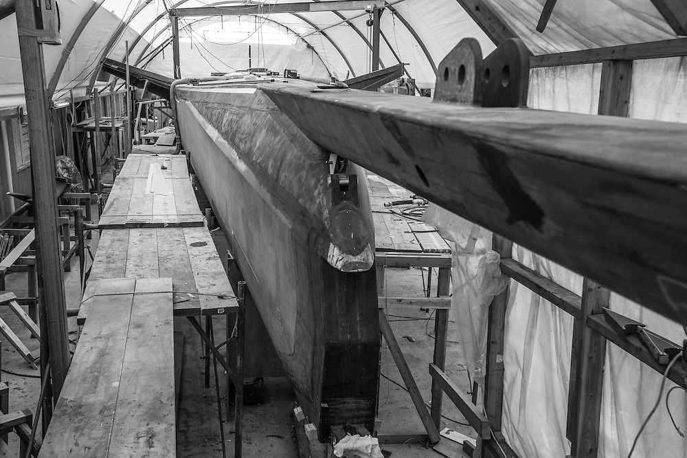 !00 foot race yacht at Southern ocean marine, August 2016 Photo:Gareth Cooke/Subzero Images