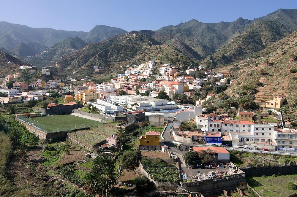 The town of Vallehermoso,La Gomera,Canary islands, Spain