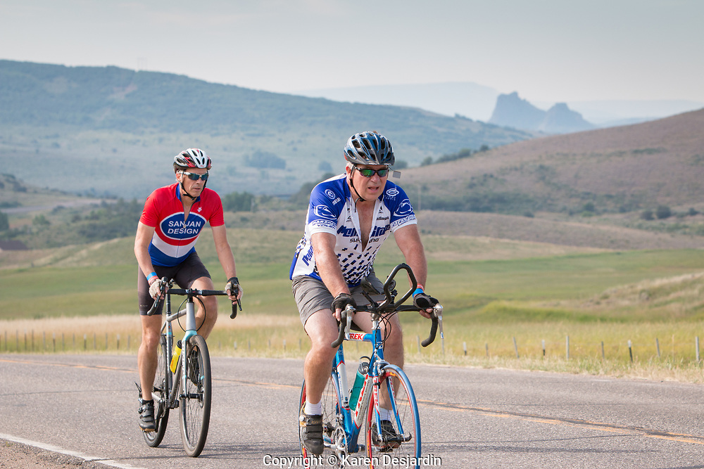 the climb from Stagecoach Reservoir to Oak Creek, 44 mile course, Tour de Steamboat 2018