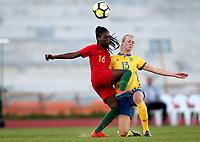 International Women's Friendly Matchs 2019 / <br /> Womens's Algarve Cup Tournament 2019 - <br /> Portugal v Sweden 2-1 ( Municipal Stadium - Albufeira,Portugal ) - <br /> Amanda Ilestedt of Sweden (R) ,challenges with Diana Silva of Portugal (L)
