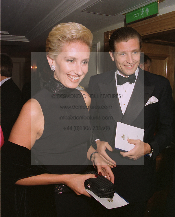 BARON & BARONESS VON MALTZHAN at a dinner in London on April 14th 1997.LXO 60