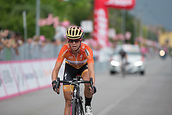 Evelyn Stevens (USA) of Boels-Dolmans Cycling Team crosses the finish line in seventh place after the Giro Rosa 2016 - Stage 1. A 104 km road race from Gaiarine to San Fior, Italy on July 2nd 2016.