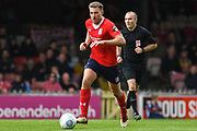 Simon Heslop of York City (8) in action during the Vanarama National League match between York City and Kidderminster Harriers at Bootham Crescent, York, England on 15 September 2018.