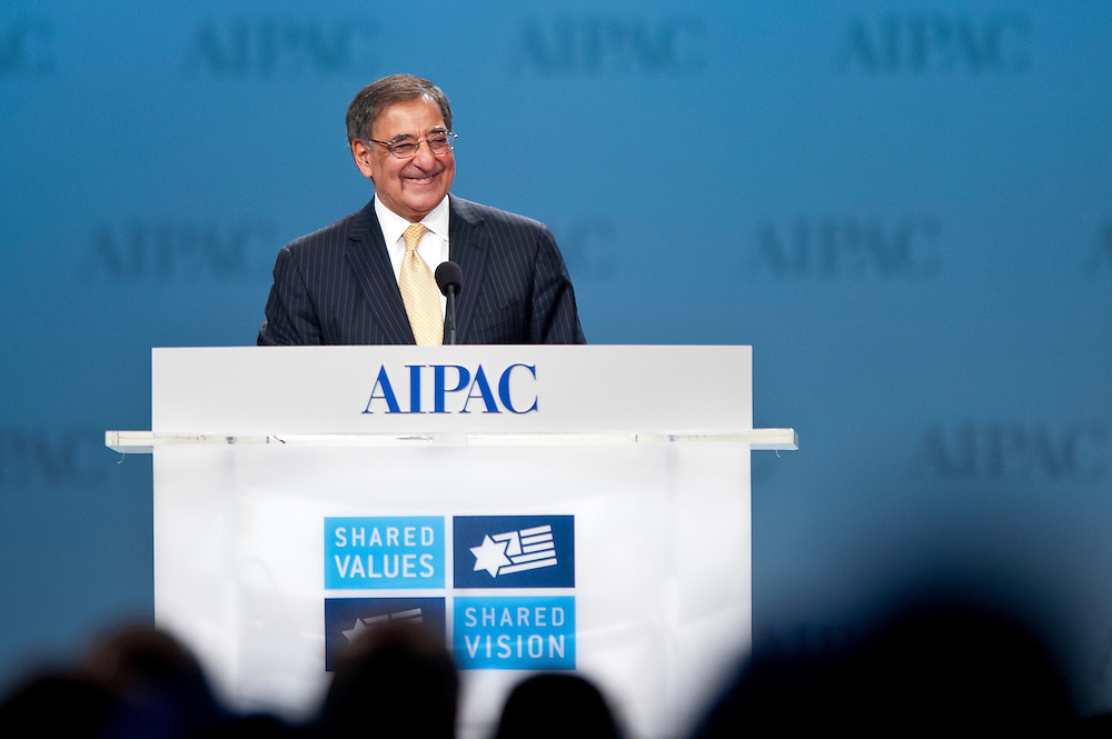 U.S. Secretary of Defense Leon Panetta speaks at the American Israel Public Affairs Conference (AIPAC) in Washington, DC, USA on 6 March, 2012. More than 13,000 delegates are expected to attend the convention sponsored by largest pro-Israel lobby in the world and one of the strongest in the United States.