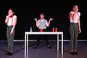 Mannheim. 10.02.17 | BILD- ID 079 |<br /> Dance Professional Mannheim zeigt eine Jahres-Show, in der sich junge Tanztalente präsentieren, die sich momentan auf eine Tanzausbildung vorbereiten.<br /> - Alisa Behnke, Marta Lufinha, Andre Meyer<br /> Bild: Markus Prosswitz 10FEB17 / masterpress (Bild ist honorarpflichtig - No Model Release!)