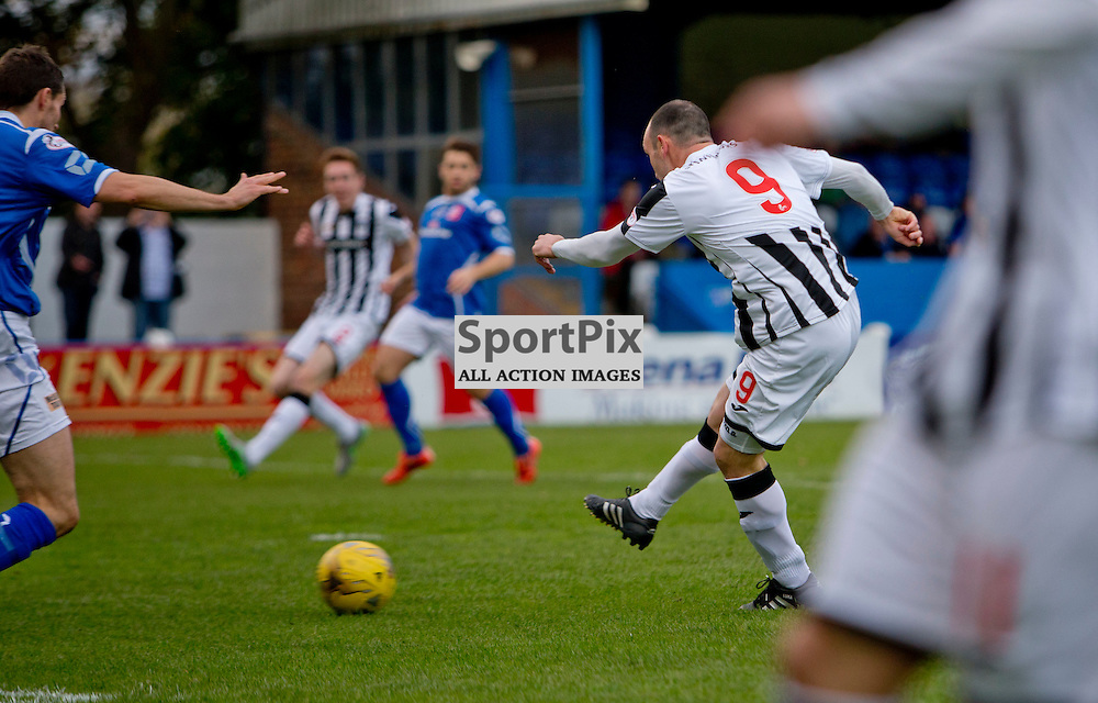 Stranraer v Dunfermline Athletic SPFL League One Season 2015/16 Stair Park 17 October 2015<br /> Michael Moffat makes it 1-0<br /> CRAIG BROWN | sportPix.org.uk