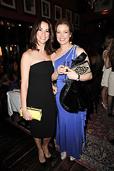 Left to right, ANDREA McLEAN and AMANDA HAMILTON at the Johnnie Walker Blue Label Great Scot Award 2010 in association with The Spectator and Boisdale held at Boisdale of Belgravia, 22 Ecclestone Street, London SW1 on 24th February 2010.