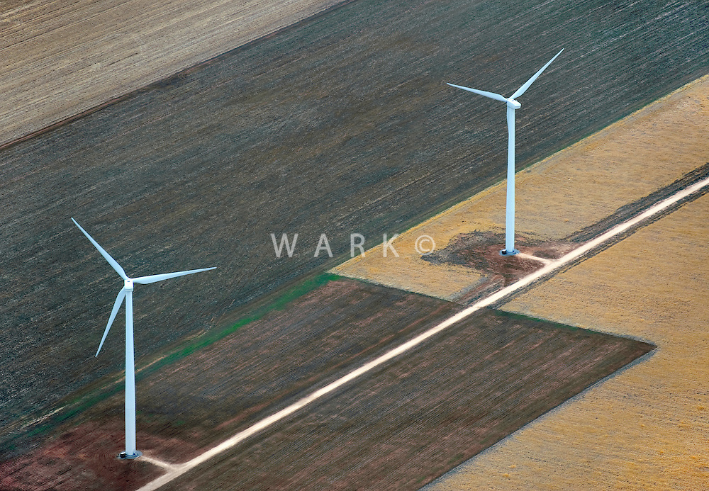 Farmland and wind towers. near Amarillo, Texas. March 2010