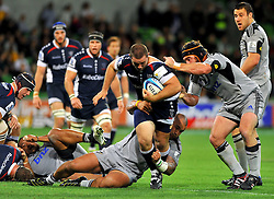Ged Robinson (Rebels).Melbourne Rebels v The Hurricanes.Rugby Union - 2011 Super Rugby.AAMI Park, Melbourne VIC Australia.Friday, 25 March 2011.© Sport the library / Jeff Crow