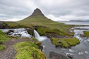 Seljalandsfoss waterfall in  west-Iceland