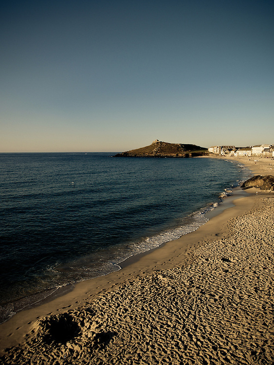Porthmeor beach at sunset, St Ives