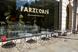 © Licensed to London News Pictures. 16/03/2020. London, UK. An empty restaurant at Haymarket amid an increased number of Coronavirus (COVID-19) cases in the UK. 35 coronavirus victims have died and 1,372 have tested positive forthe virusin the UK as of9amon Sunday, 15 March 2020. Photo credit: Dinendra Haria/LNP