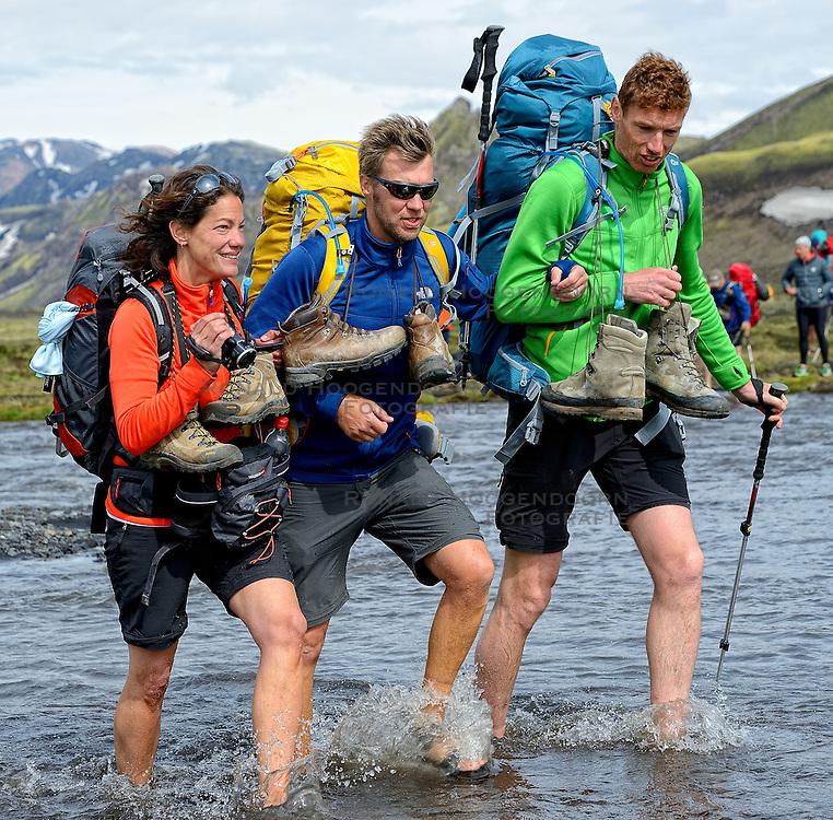 09-07-2014 ISL: Iceland Diabetes Challenge Dag 5, Emstrur<br /> Van Alftavatn naar Emstrur / Femke, Eddy, Bas van de Goor