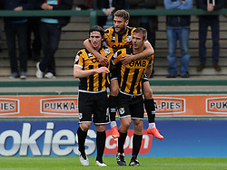 Port Vale's Tom Pope celebrates his sides goal  - Photo mandatory by-line: Harry Trump/JMP - Mobile: 07966 386802 - 25/04/15 - SPORT - FOOTBALL - Sky Bet League One - Yeovil Town v Port Vale - Huish Park, Yeovil, England.