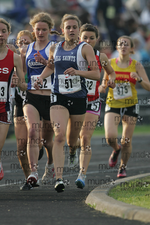 Hamilton, Ontario ---05/06/08--- Sarah Boyd of All Saints in Kanata competes in the 1500m at the 2008 OFSAA Track and Field meet in Hamilton, Ontario..Sean Burges