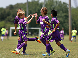 14 May 2016. New Orleans, Louisiana.<br /> New Orleans Jesters Youth Academy U10 Purple vs Madison Rush, Jesters win 3-1.<br /> Photo©; Charlie Varley/varleypix.com