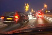Nederland, Nijmegen, 15-1-2013Sneeuw en gladheid vormen ongemak voor het verkeer in Lent en bij de Waalbrug. FFFoto: Flip Franssen