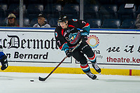 KELOWNA, CANADA - OCTOBER 5: Libor Zabransky #7 of the Kelowna Rockets skates with the puck against the Victoria Royals  on October 5, 2018 at Prospera Place in Kelowna, British Columbia, Canada.  (Photo by Marissa Baecker/Shoot the Breeze)  *** Local Caption ***