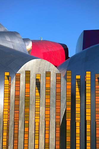 Grass Blades Metal Sculpture By Susan Zoccola In Front Of The EMP Experience  Music Project And.
