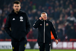 Sheffield United manager Chris Wilder - Mandatory by-line: Robbie Stephenson/JMP - 24/11/2019 - FOOTBALL - Bramall Lane - Sheffield, England - Sheffield United v Manchester United - Premier League