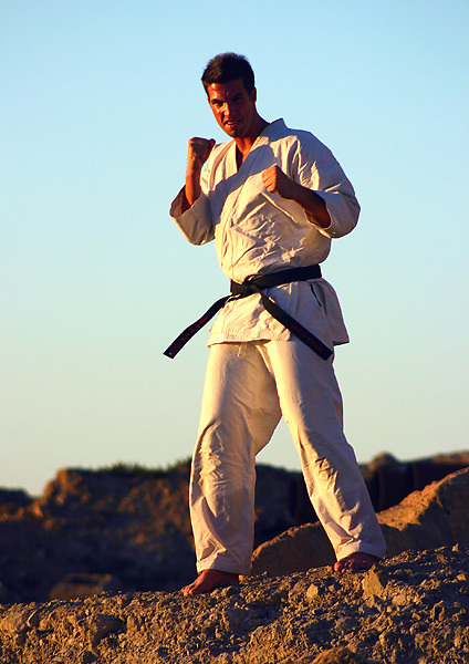Martial arts photographs taken Perth Western Austraia Photographs taken from 1985 to 2009 at various Dojo of Sensei Terry Lyon 5th Dan, Training sessions, Gasshuku with Sensei Graham Ravey 7th Dan,Sensei Morio Higaonna 10th Dan, Cottesloe Dojo.