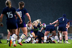 Jenny Maxwell of Scotland Women passes the ball - Mandatory by-line: Robbie Stephenson/JMP - 16/03/2019 - RUGBY - Twickenham Stadium - London, England - England Women v Scotland Women - Women's Six Nations