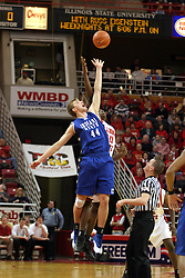 14 February 2004 Jump ball. Illinois State Redbirds V Indiana State Sycamores at Redbird Arena in Normal Illinois.