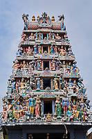 Singapour, Chinatown, temple hindou Sri Mariamman // Singapore, Chinatown, Sri Mariamman hindu temple