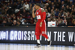 November 17, 2017 - Milan, Milan, Italy - Curtis Jerrells (#55 AX Armani Exchange Milan) during a game of Turkish Airlines EuroLeague basketball between  AX Armani Exchange Milan vs Brose Bamberg at Mediolanum Forum, on November 17, 2017 in Milan, Italy. (Credit Image: © Roberto Finizio/NurPhoto via ZUMA Press)
