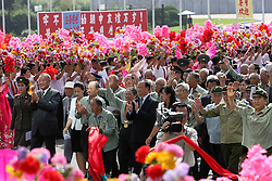 60243572 <br /> Chinese veterans and the Democratic People s Republic of Korea (DPRK) s veterans attend the celebrating ceremony to mark the 60th anniversary of the Korean War Armistice Agreement in Pyongyang, DPRK, <br /> Pyongyang, North Korea, <br /> Monday, July 29, 2013. <br /> Picture by imago / i-Images<br /> UK ONLY