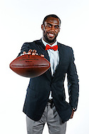 Photograph of NFL football player Malcolm Jenkins on a white background for WDSU TV-6 in New Orleans, LA.