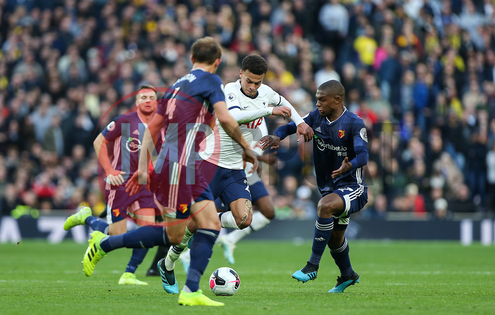 Dele Alli of Tottenham Hotspur drives at the Watford defence - Mandatory by-line: Arron Gent/JMP - 19/10/2019 - FOOTBALL - Tottenham Hotspur Stadium - London, England - Tottenham Hotspur v Watford - Premier League