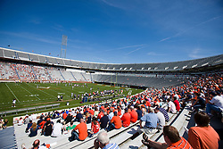 The Virginia Cavaliers football team played the annual spring football scrimmage at Scott Stadium on the Grounds of the University of Virginia in Charlottesville, VA on April 18, 2009.  (Special to the Daily Progress / Jason O. Watson)