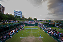 LONDON, ENGLAND - Thursday, June 24, 2010: Kenneth Skupski (GBR) and Colin Flemming (GBR) take on Arnaud Clement (FRA) & Nicolas Mahut (FRA) during the Gentlemen's Doubles 1st Round match on day four of the Wimbledon Lawn Tennis Championships at the All England Lawn Tennis and Croquet Club. (Pic by David Rawcliffe/Propaganda)