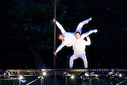 Depart<br /> (Australia/UK)<br /> A Circa production<br /> at Tower Hamlets Cemetery Park, Mile End, London, Great Britain <br /> 14th June 2016 <br /> <br /> during a live performance <br /> <br /> Haunting sights and sounds will seduce you down a path punctuated by unexpected encounters as you weave through the space between life and death in this East End cemetery&hellip;<br />  <br /> Led by Yaron Lifschitz with his internationally acclaimed company, Circa and with a creative team including the electronic musician Lapalux, this ethereal collaboration brings circus artists, choral singers, designers and musicians together for a summer night full of surprises.<br /> <br /> Photograph by Elliott Franks <br /> Image licensed to Elliott Franks Photography Services
