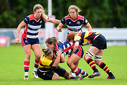 Jessie Hood of Bristol Ladies   is tackled by Morgan Simpson of Richmond ladies - Mandatory by-line: Craig Thomas/JMP - 17/09/2017 - Rugby - Cleve Rugby Ground  - Bristol, England - Bristol Ladies  v Richmond Ladies - Women's Premier 15s