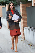 021418 Queen Letizia attends a Meeting with the Board of FEDER