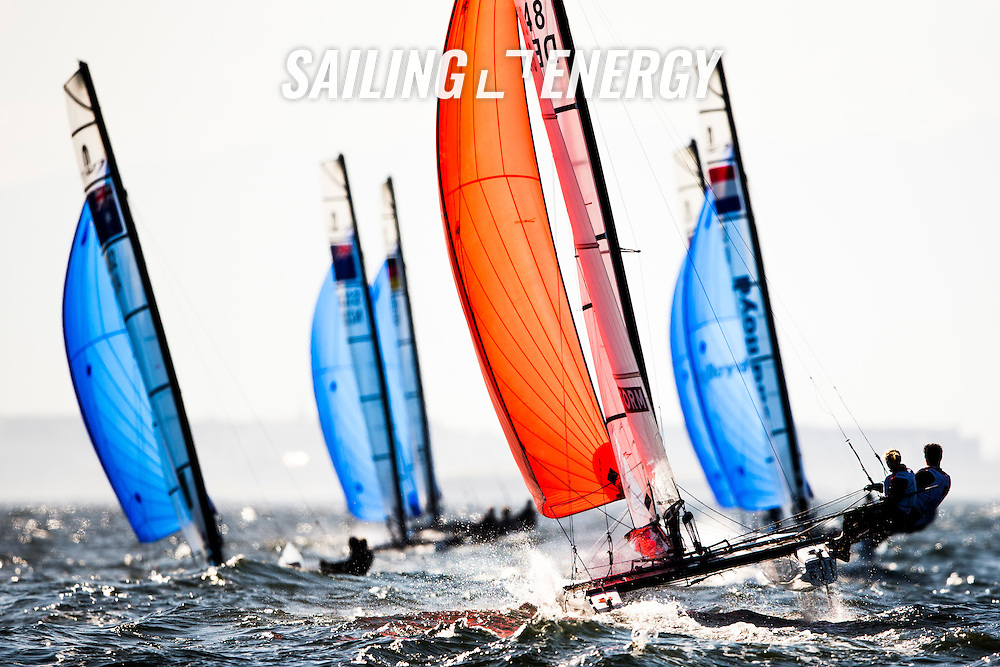 Aquece Rio &ndash; International Sailing Regatta 2015 is the second sailing test event in preparation for the Rio 2016 Olympic Sailing Competition. Held out of Marina da Gloria from 15-22 August, the Olympic test event welcomes more than 330 sailors from 52 nations in Rio de Janeiro, Brazil. <br /> <br /> Credit Pedro Martinez/Sailing Energy