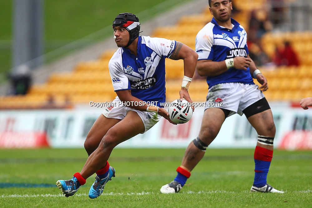 Vulcans' Pita Godinet in action. New South Wales Cup Rugby League, Auckland Vulcans v Manly Sea Eagles, Mt Smart Stadium, Auckland, New Zealand. Saturday 24th March 2012. Photo: Anthony Au-Yeung / photosport.co.nz