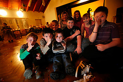 CZECH REPUBLIC VYSOCINA NEDVEZI 6MAR10 - Childrens' carnival celebration in the village hall of Nedvezi, Vysocina, Czech Republic. Karnival is the biggest communal event and celebration for the 200-odd villagers...jre/Photo by Jiri Rezac..© Jiri Rezac 2010