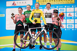 Parkhotel Valkenburg pose for photos on the podium at Tour of Chongming Island 2019 - Stage 3, a 118.4 km road race on Chongming Island, China on May 11, 2019. Photo by Sean Robinson/velofocus.com
