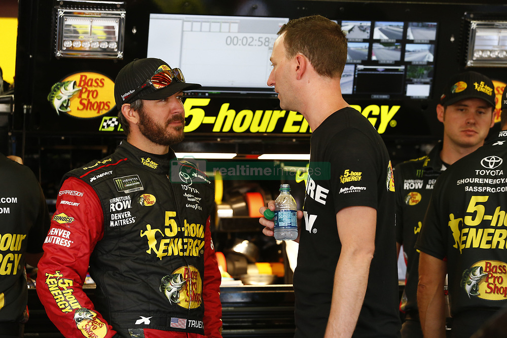 July 20, 2018 - Loudon, New Hampshire, United States of America - Martin Truex, Jr (78) hangs out in the garage during practice for the Foxwoods Resort Casino 301 at New Hampshire Motor Speedway in Loudon, New Hampshire. (Credit Image: © Justin R. Noe Asp Inc/ASP via ZUMA Wire)