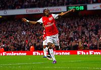 20111227: LONDON, UK - Barclays Premier League 2011/2012: Arsenal vS Wolverhampton Wanderers.<br /> In photo: Gervinho of Arsenal celebrates scoring his side's first goal.<br /> PHOTO: CITYFILES