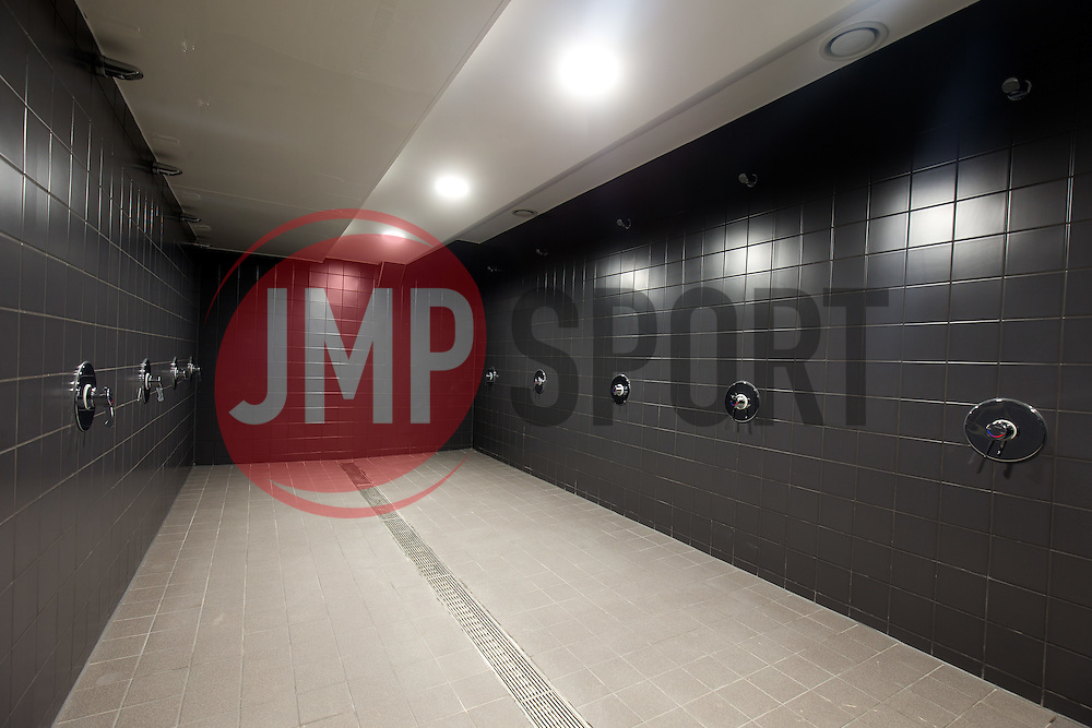 New home team wash facilities in the Lansdown Stand at Ashton Gate - Rogan Thomson/JMP - 30/01/2017 - SPORT - Ashton Gate Stadium - Bristol, England - New West Stand Facilities.