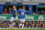 Everton midfielder Muhamed Besic can't believe he has missed during the Barclays Premier League match between Everton and Swansea City at Goodison Park, Liverpool, England on 24 January 2016. Photo by Simon Davies.