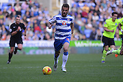 Reading's Carlos Orlando Sa running into attack during the Sky Bet Championship match between Reading and Brighton and Hove Albion at the Madejski Stadium, Reading, England on 31 October 2015. Photo by Mark Davies.